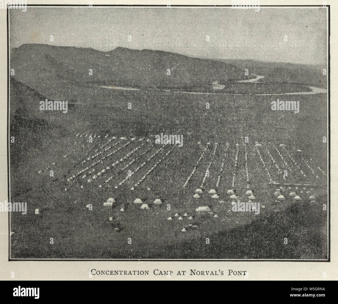 Second Boer War, Concentration camp at Norval's Pont (Norvalspont) Northern Cape, South Africa Stock Photo