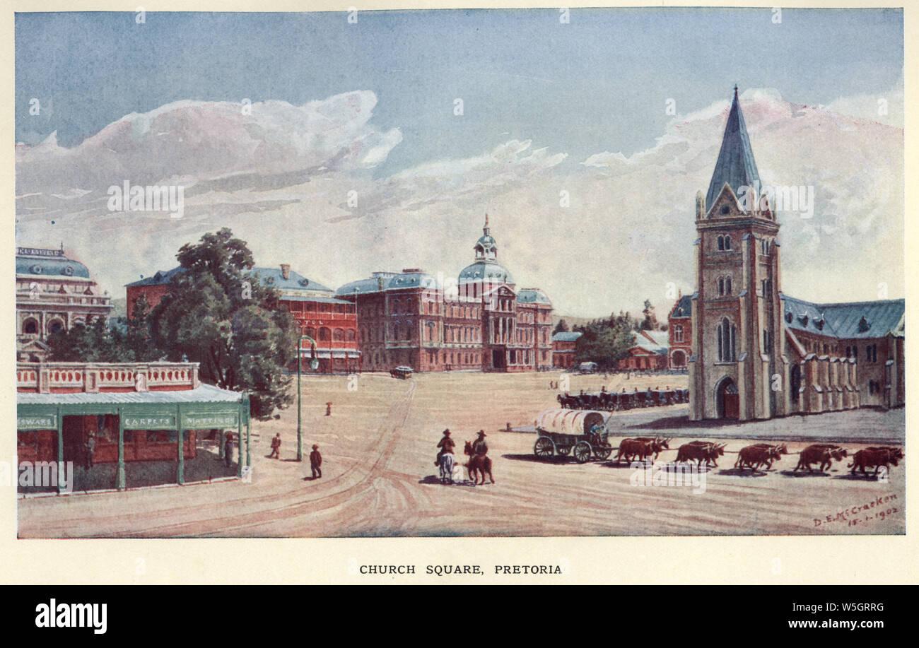 Church Square, Pretoria, South Africa, 1902 Stock Photo
