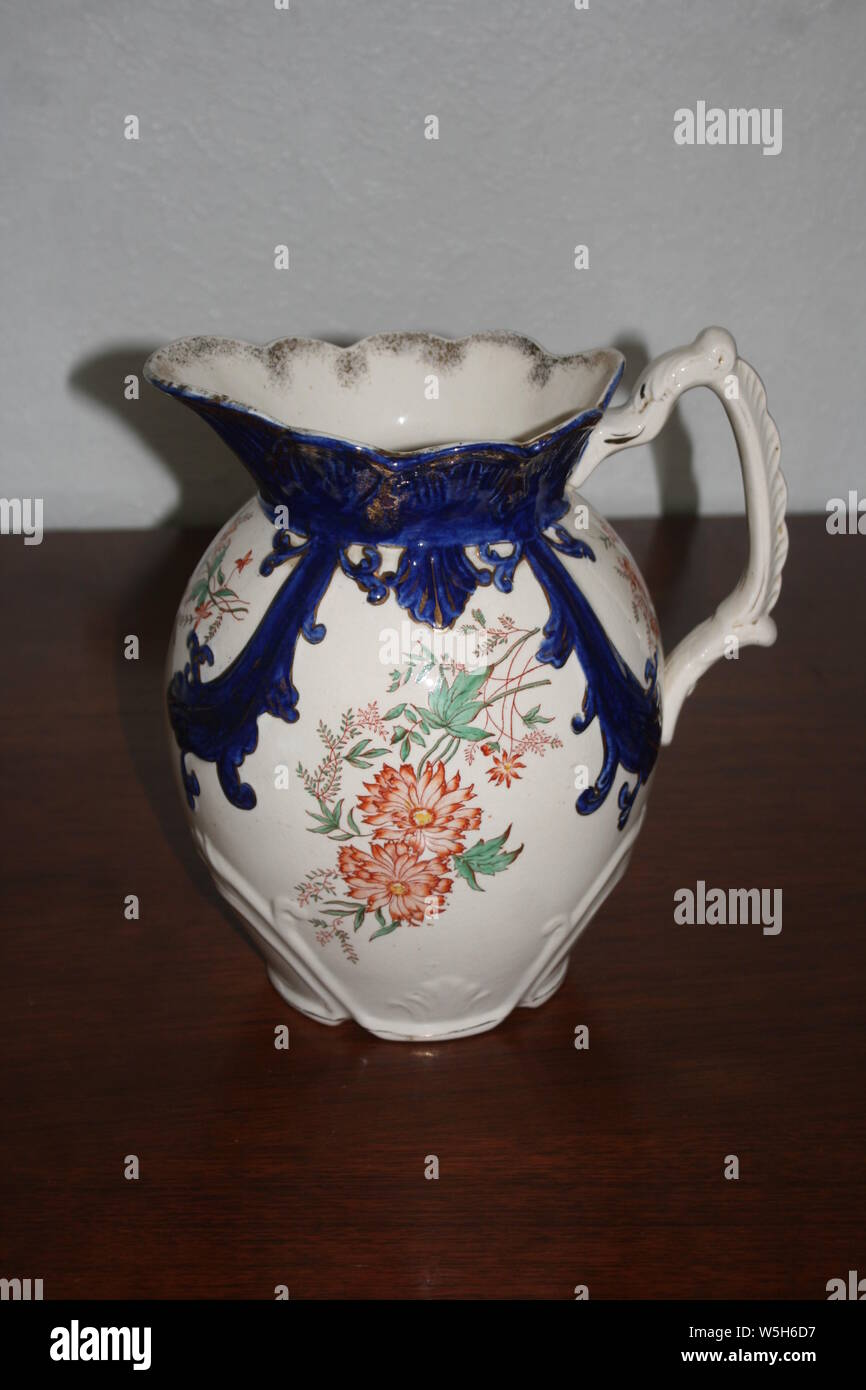 Staffordshire pottery large water jug or ewer Stock Photo