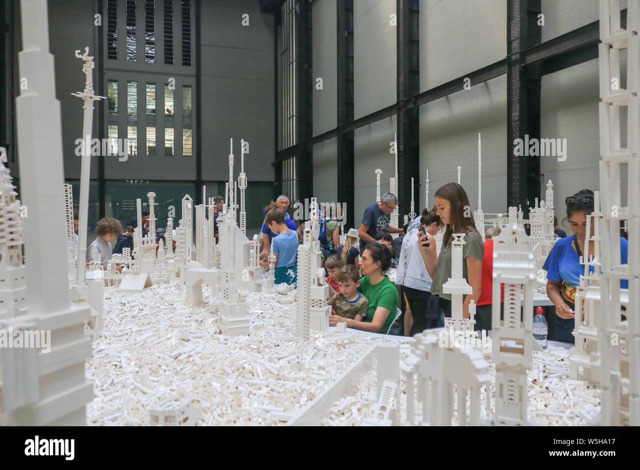 Tate Modern London Uk 29th July 2019 The Cubic Structural Evolution Project 2004 By Danish Icelandic