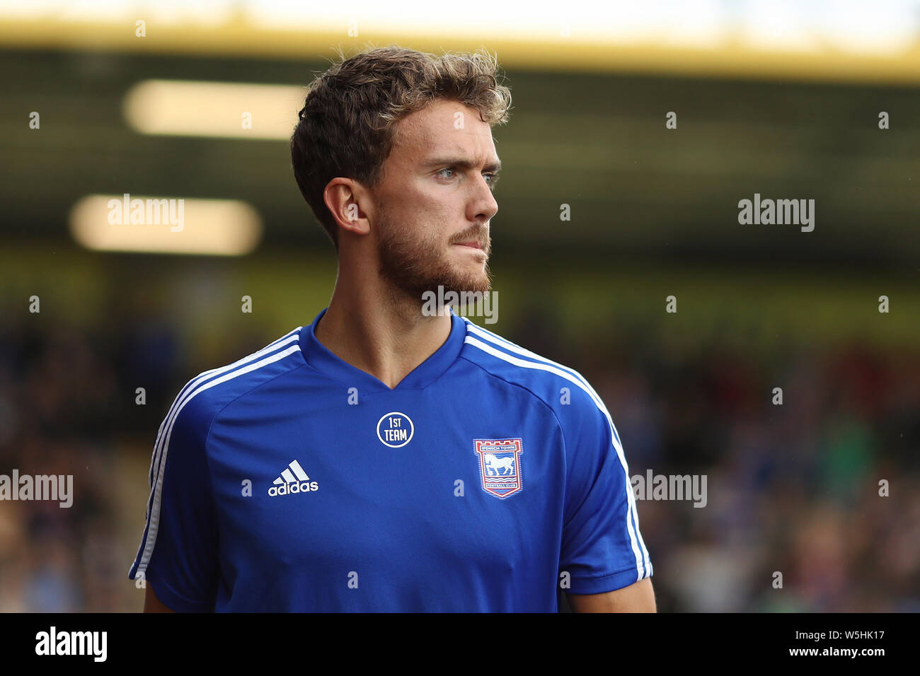 Emyr Huws of Ipswich Town - Cambridge United v Ipswich Town, Pre-Season Friendly, Abbey Stadium, Cambridge - 27th July 2019 Stock Photo