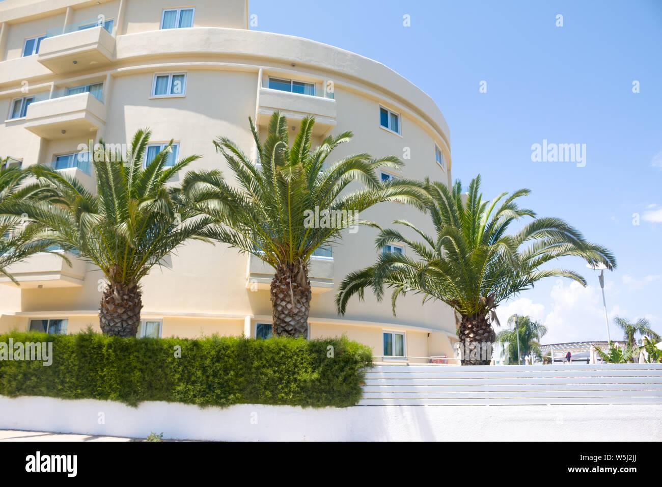 Luxury estate Building of the luxury hotel Stock Photo