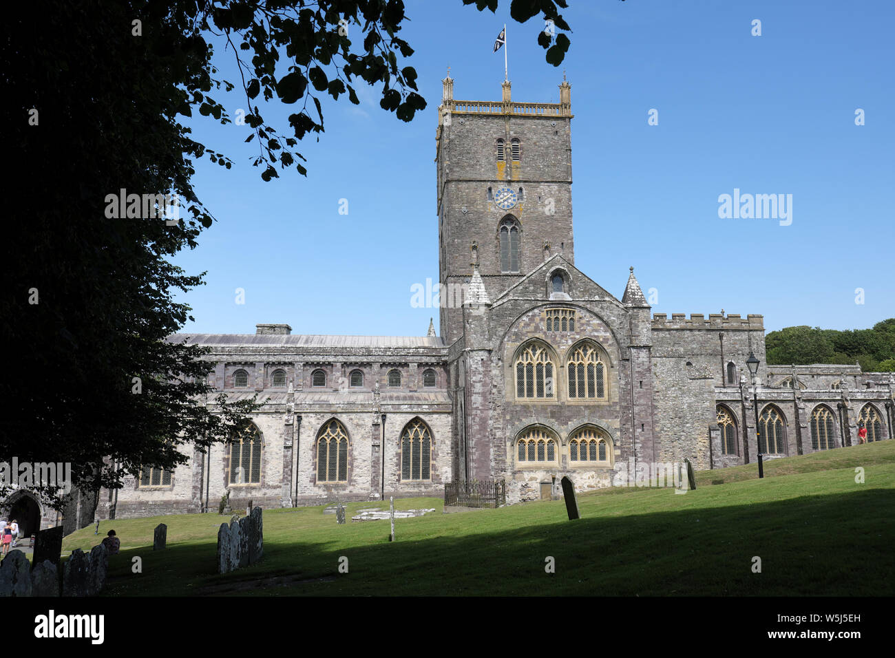 St David's Cathedral in St Davids Pemrokshire Wales summer 2019 Stock Photo