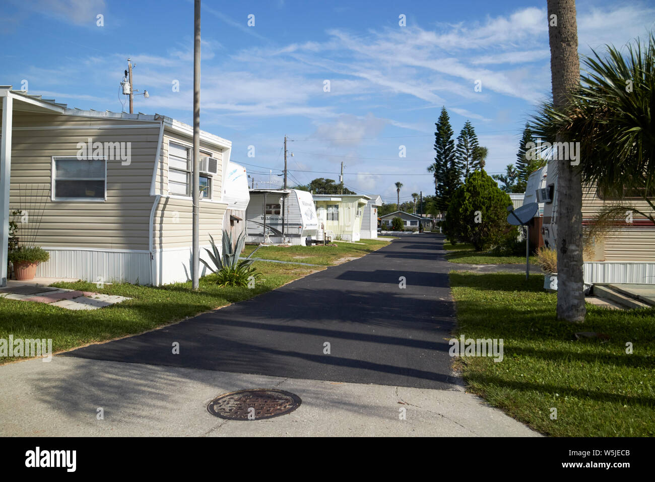 trailer park rv park homes in florida usa united states of america Stock Photo