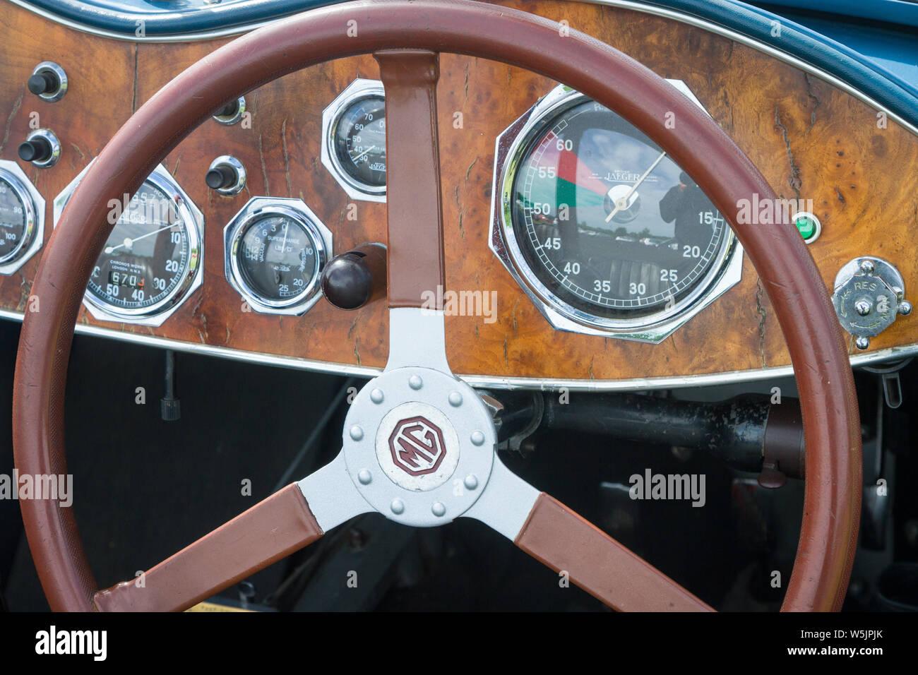 Vintage Car Instruments Stock Photos & Vintage Car
