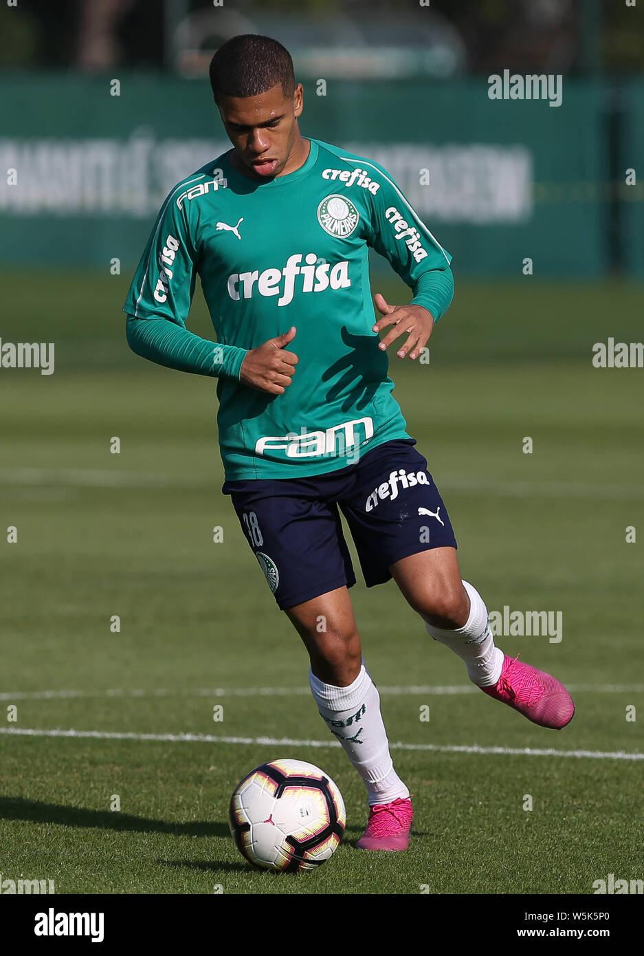 Sao Paulo Sp 29 07 2019 Treino Do Palmeiras Lucas Esteves From Se Palmeiras During Training At The Football Academy Photo Cesar Greco Fotoarena Stock Photo Alamy