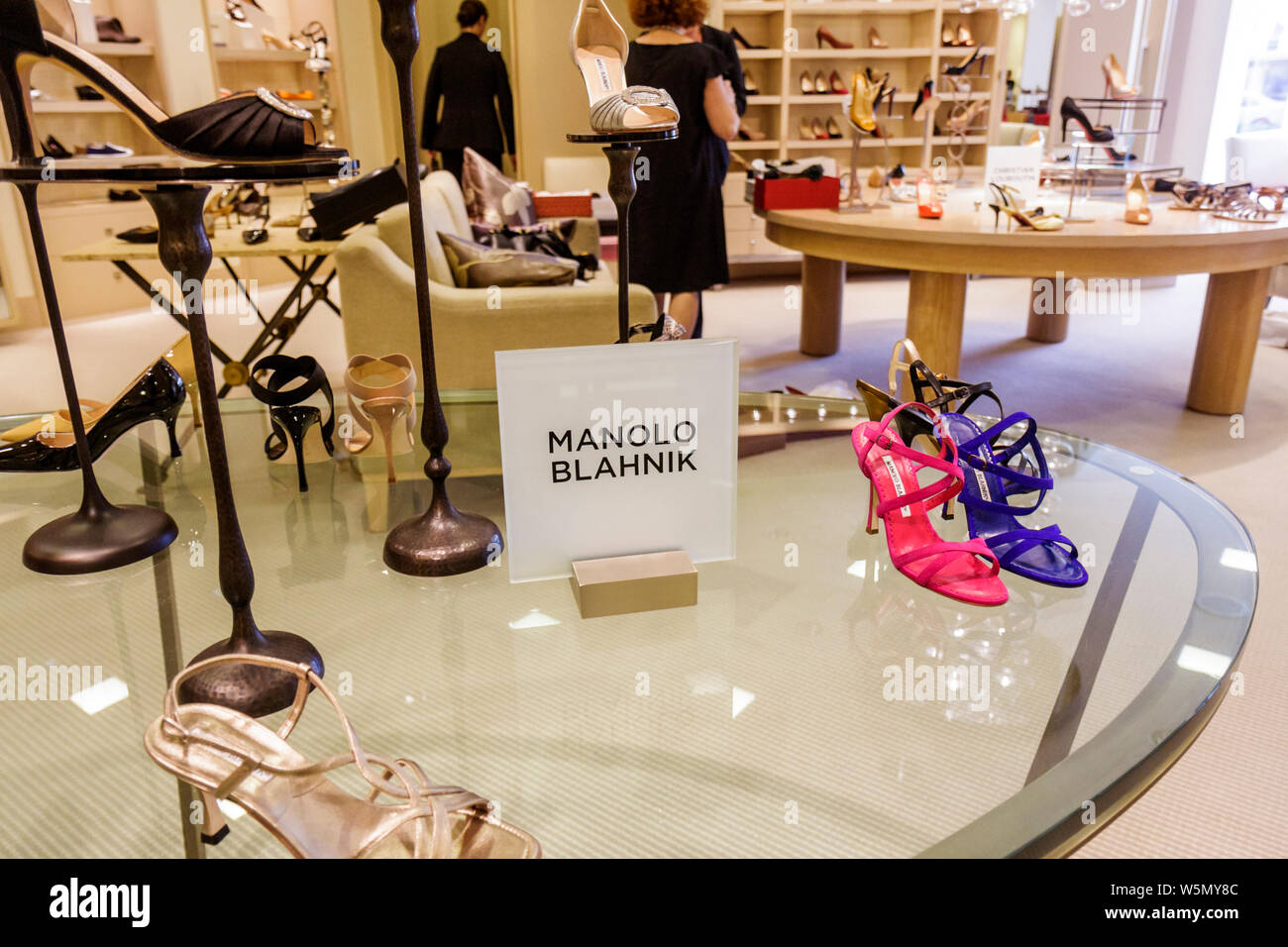 Palm Beach Florida Worth Avenue Saks Fifth 5th Avenue upscale luxury high-end department store fashion business shopping retail Stock Photo