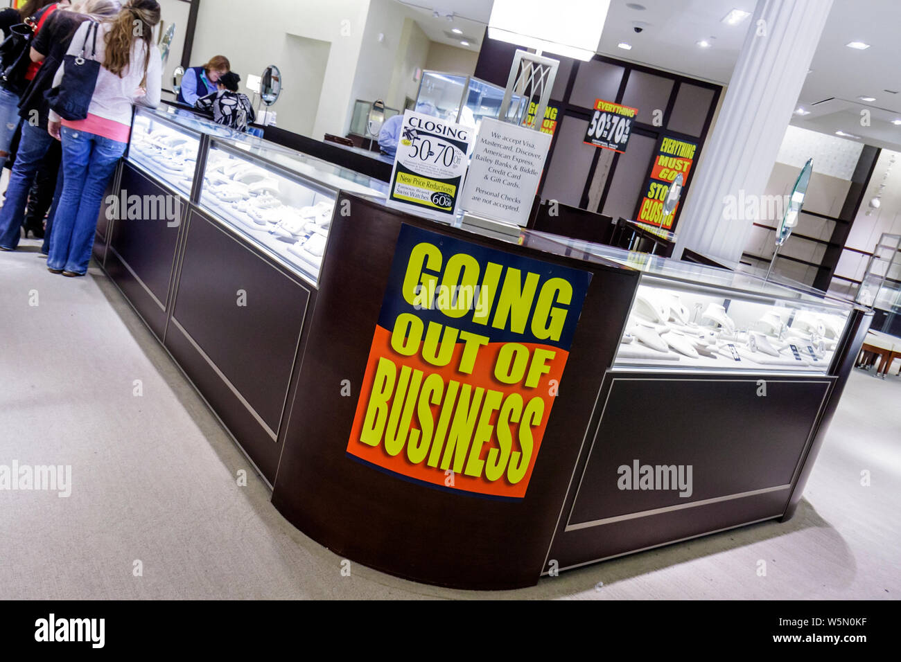 Palm Beach Florida Gardens The Gardens Mall Bailey Banks And Biddle Jeweler Jewelry Store Business Retail Shopping Closing Goi Stock Photo 261690339 Alamy