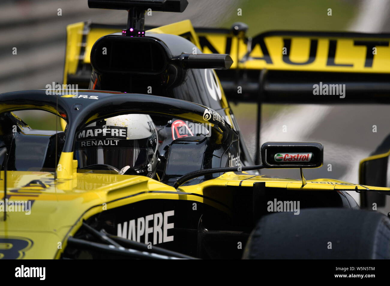 Australian Formula One Driver Daniel Ricciardo Of Renault F1 Competes During First Practice For The The Formula 1 Heineken Chinese Grand Prix 2019 At Stock Photo Alamy