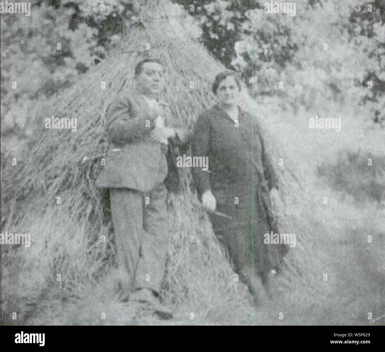 Darío Álvarez Limeses e María Blázquez Ballester Baión 1928. Stock Photo