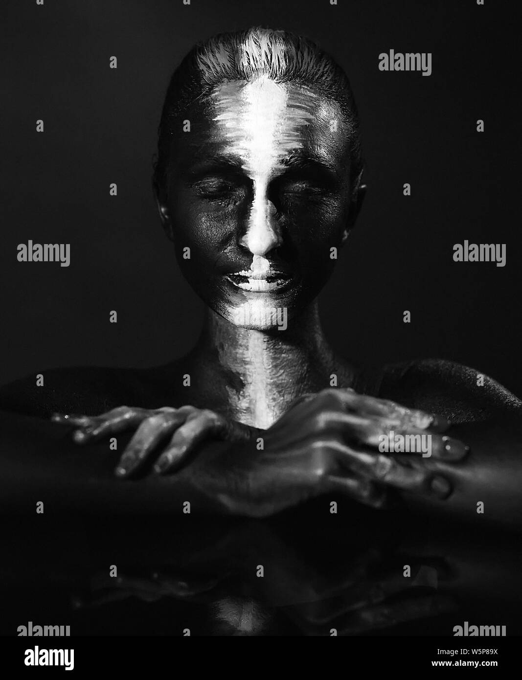 Body Art Black And White Stock Photos Images Alamy