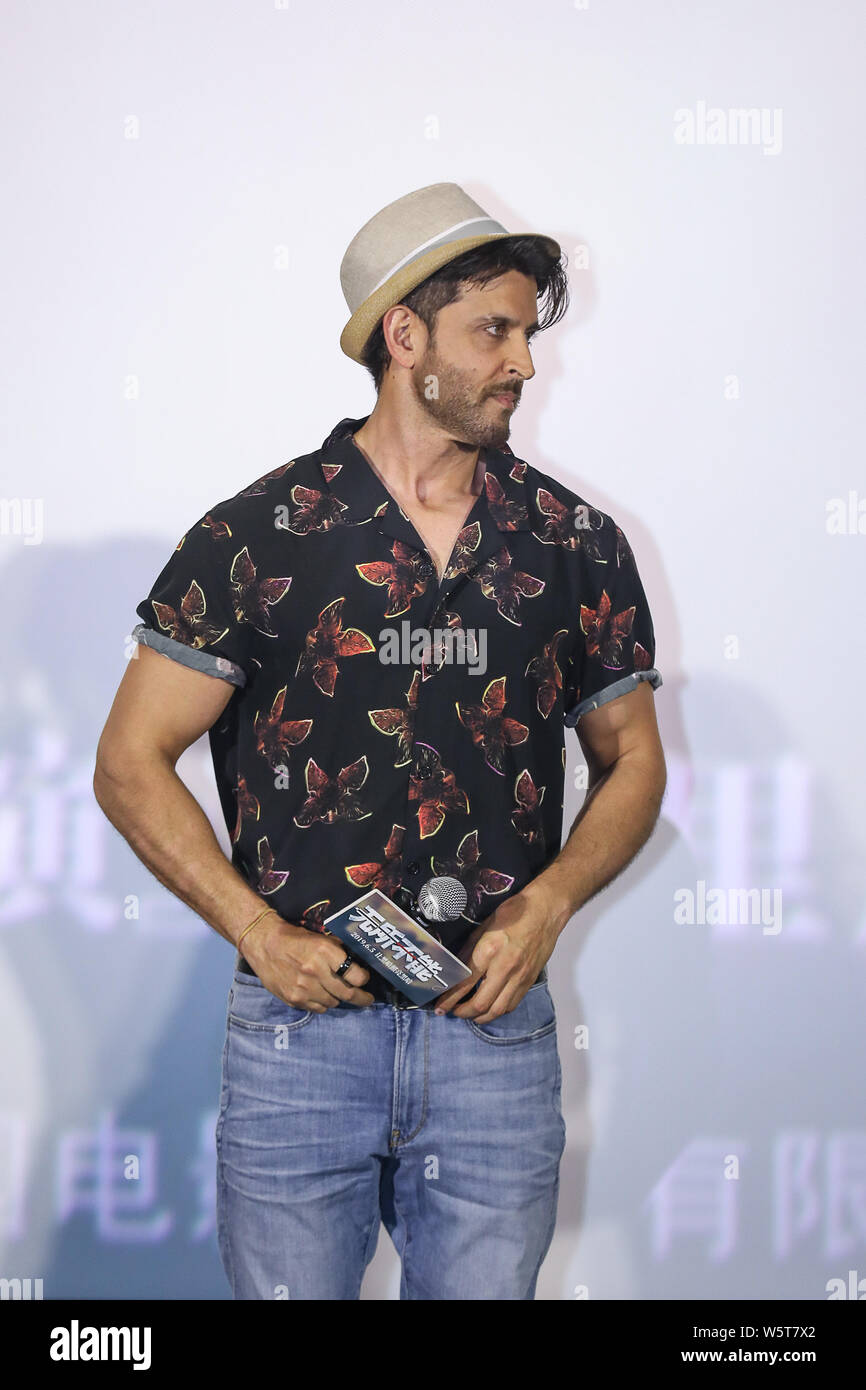 Indian actor Hrithik Roshan attends a premiere event for
