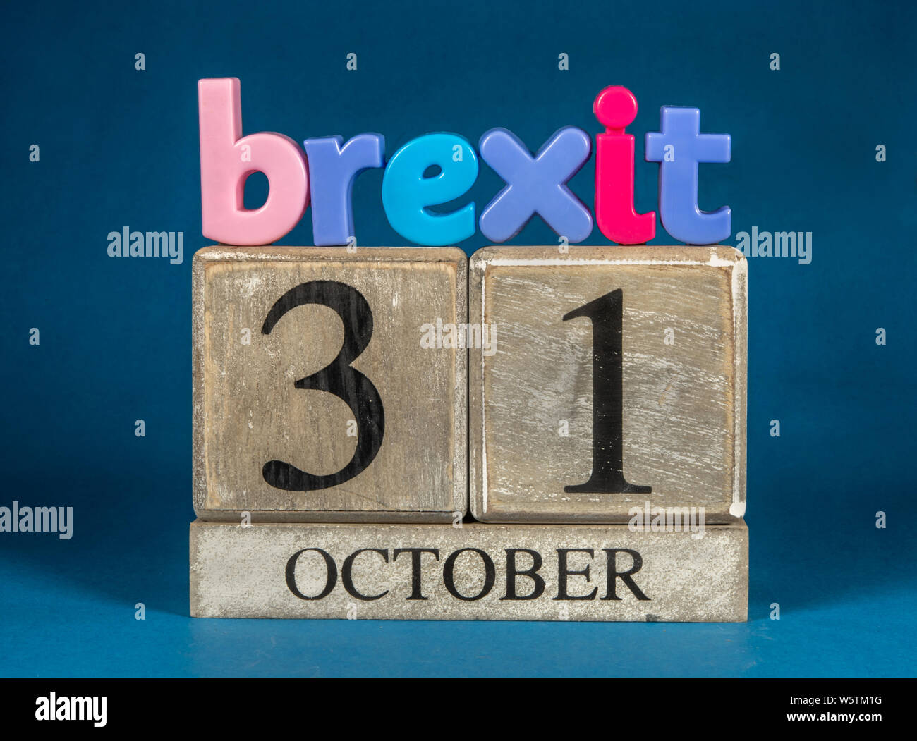Brexit and Boris Decision 31st October Stock Photo