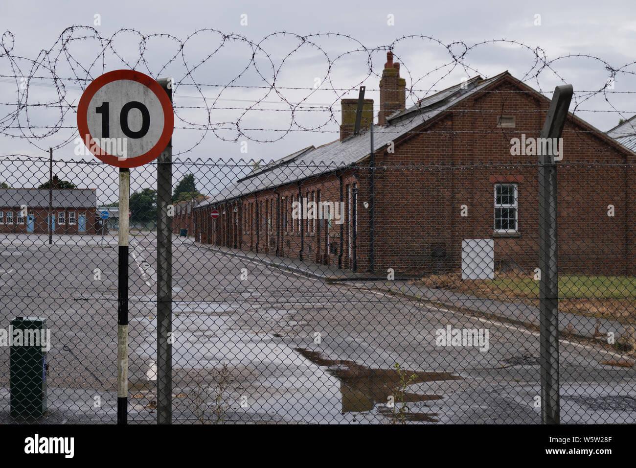 Military barracks in Folkestone kent on wet day Stock Photo