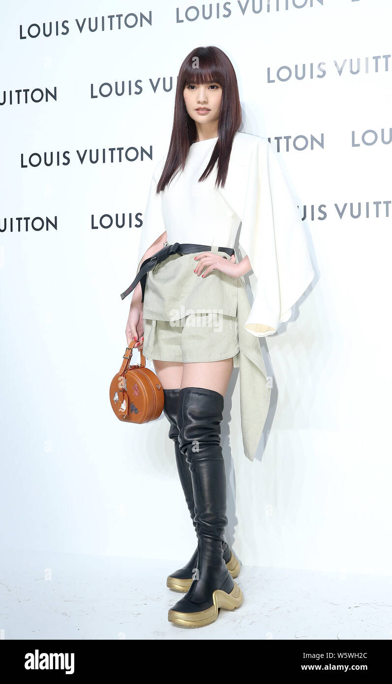 **TAIWAN OUT**Taiwanese singer and actress Rainie Yang poses at LV's iconic Time Capsule Exhibition in Taipei, Taiwan, 14 December 2018.    *** Local Stock Photo