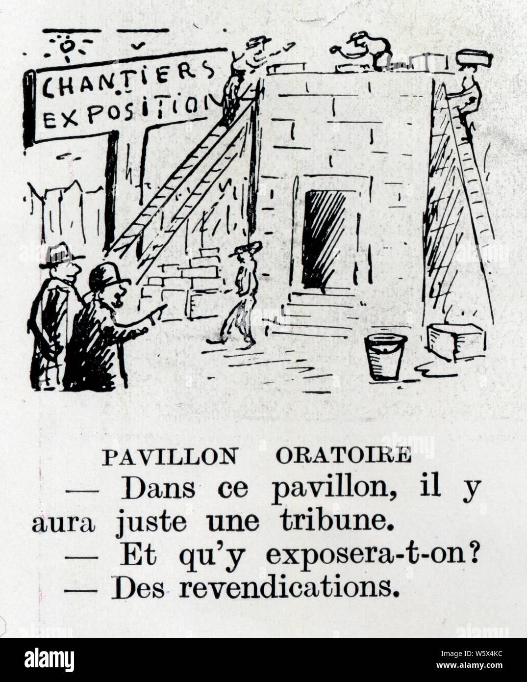 HISTOIRE DROLE.PAVILLON ORATOIRE.1937 Stock Photo