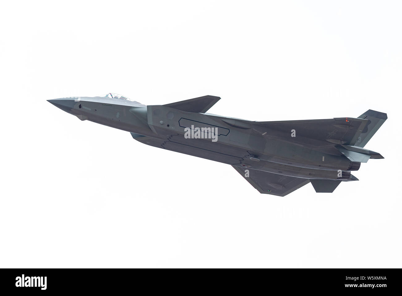 A J-20 stealth fighter jet of the Chinese People's Liberation Army