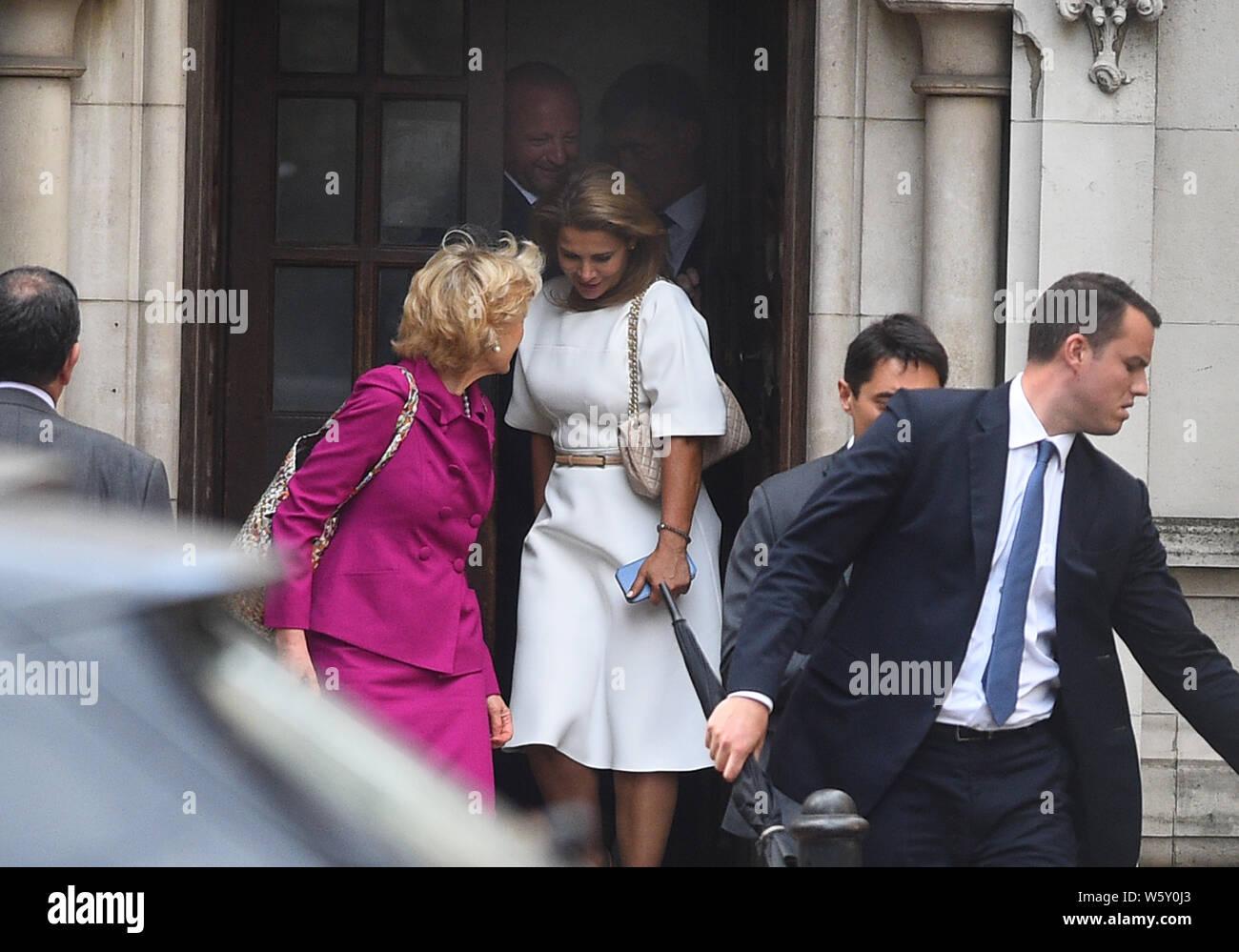 Princess Haya Bint Al Hussein and her lawyer Baroness Fiona
