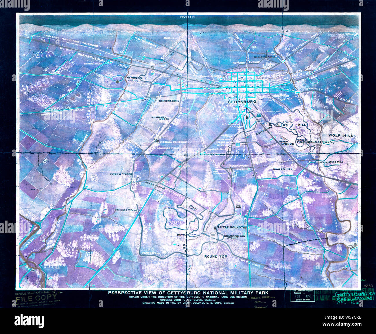 Civil War Maps 1276 Perspective view of Gettysburg National ... on gettysburg historic site map, gettysburg johnny reb trail guide, gettysburg national history, gettysburg tour map, gettysburg cemetery map, gettysburg city map, gettysburg national visitor center, gettysburg visitor center gift shop, gettysburg visitor center hours, pennsylvania national parks map, gettysburg south dakota map, cemetery hill map, gettysburg address map, gettysburg walking map, gettysburg tourism map, gettysburg virginia map, gettysburg pennsylvania on us map, gettysburg topographic map, jackson parish louisiana map, gettysburg monuments map by state,