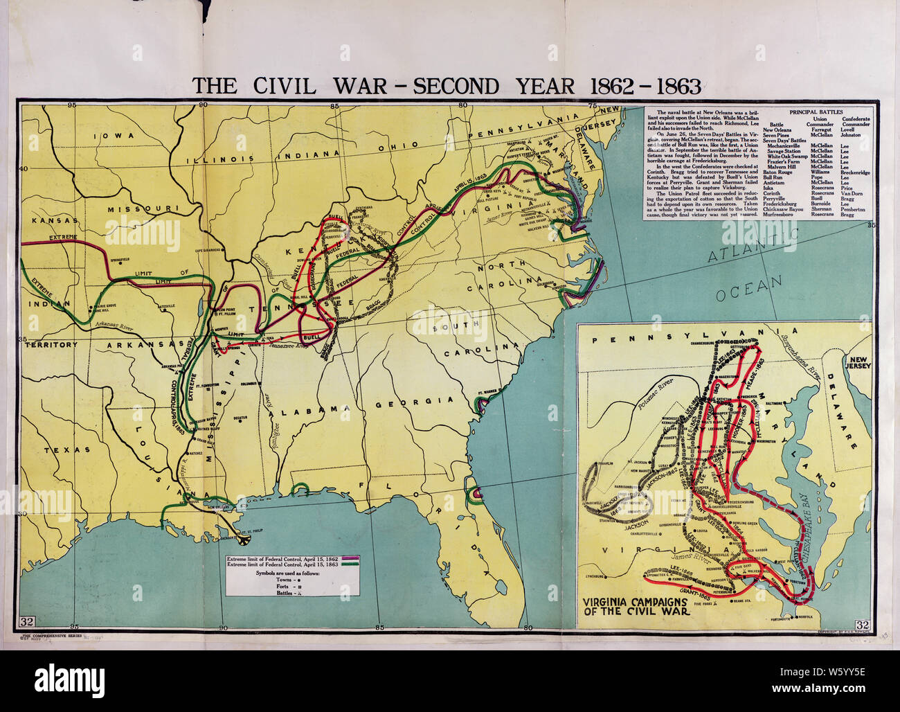 Civil War Maps 1759 The Comprehensive Series Historical Geographical Maps Of The United States 02 Rebuild And Repair Stock Photo Alamy
