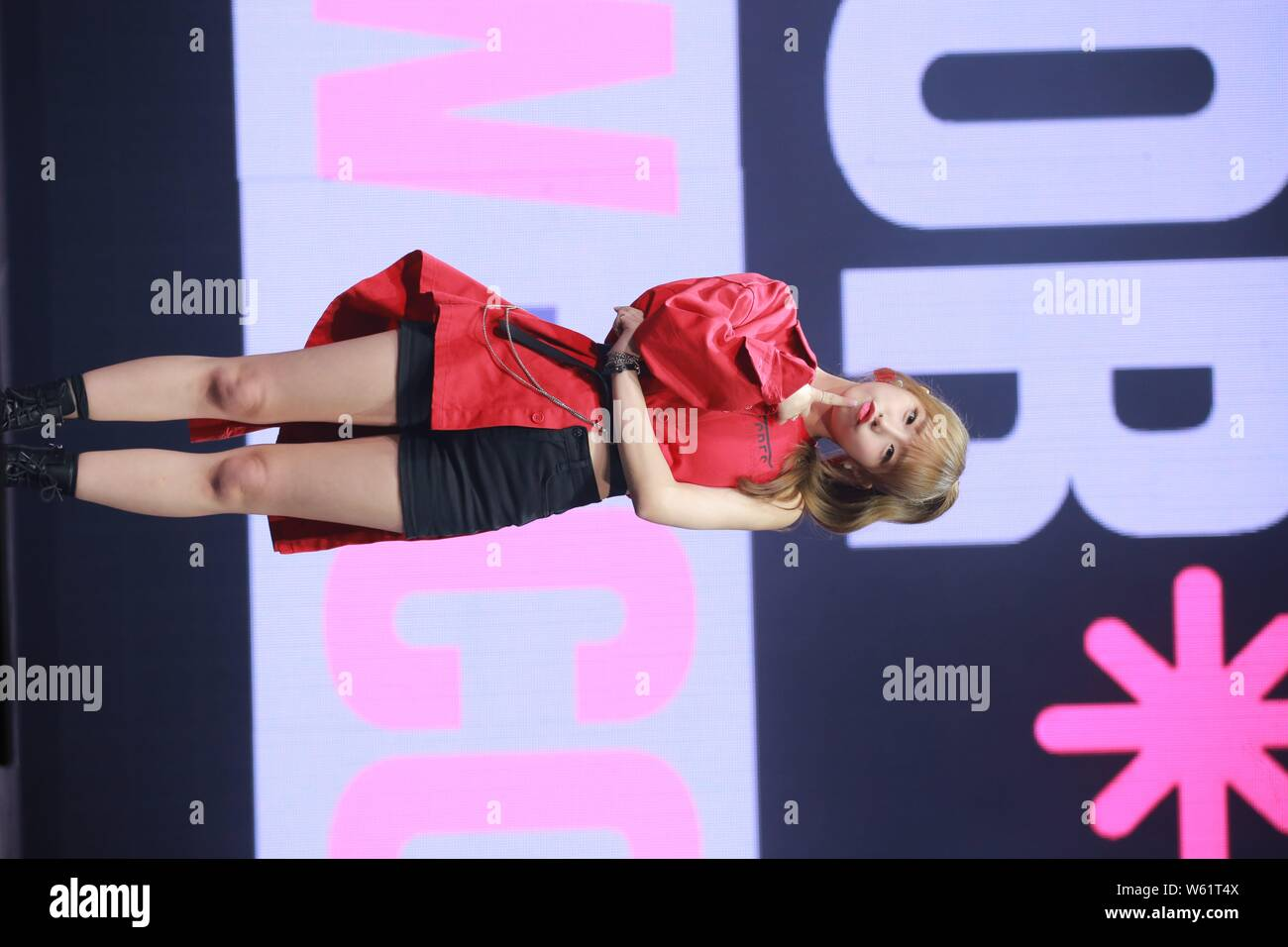 Choi Ye-na of South Korean girl group Izone, stylized as IZ