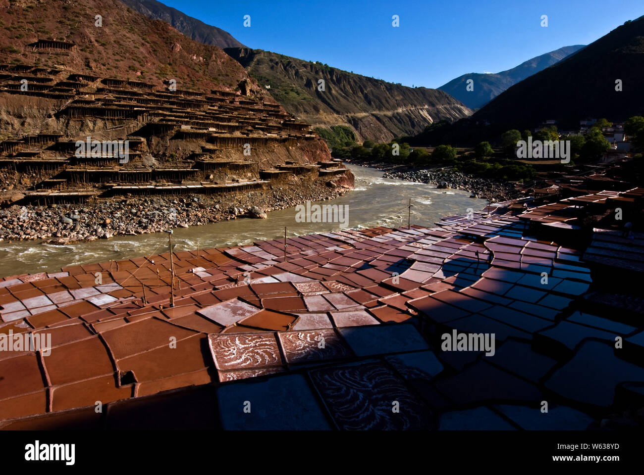 River Valley Auto >> Scenery Of The Mangkang Salt Terraces In The Lancang River