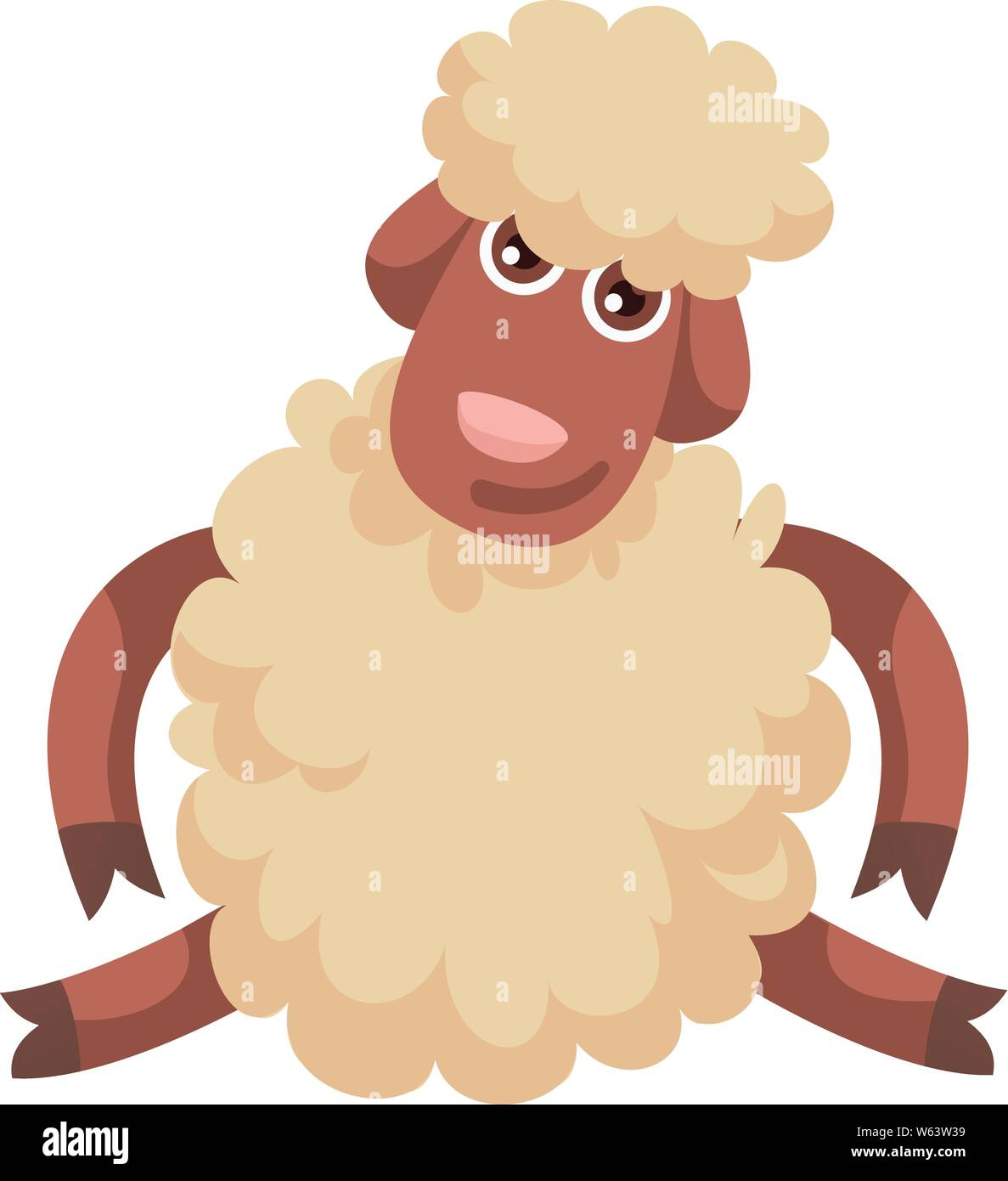 Funny sheep icon. Cartoon of funny sheep vector icon for web design isolated on white background Stock Vector