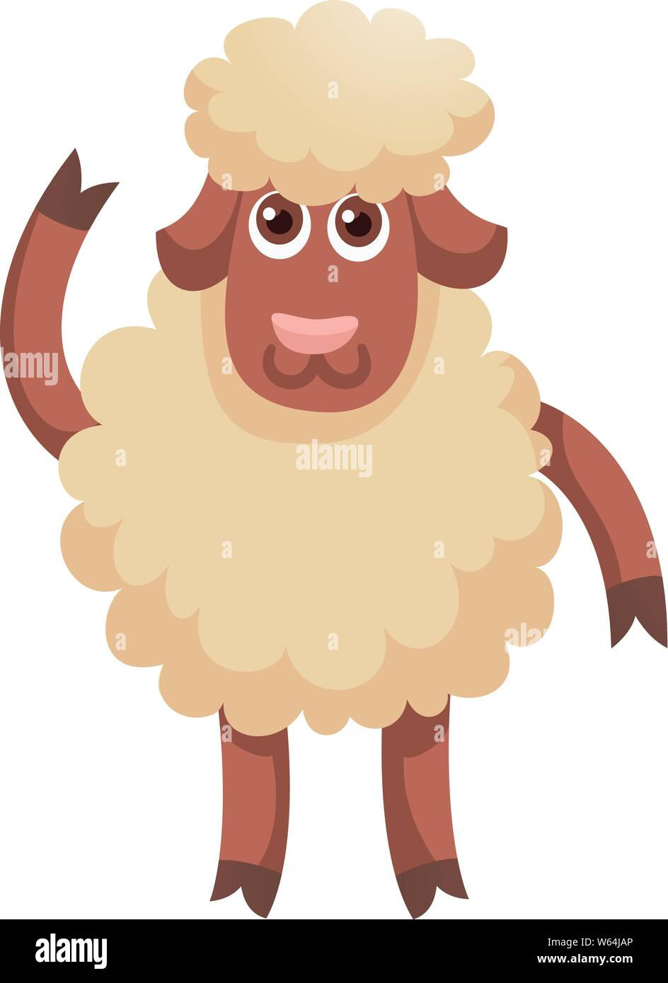 Wool white sheep concept banner. Flat illustration of wool white sheep vector concept banner for web design Stock Vector