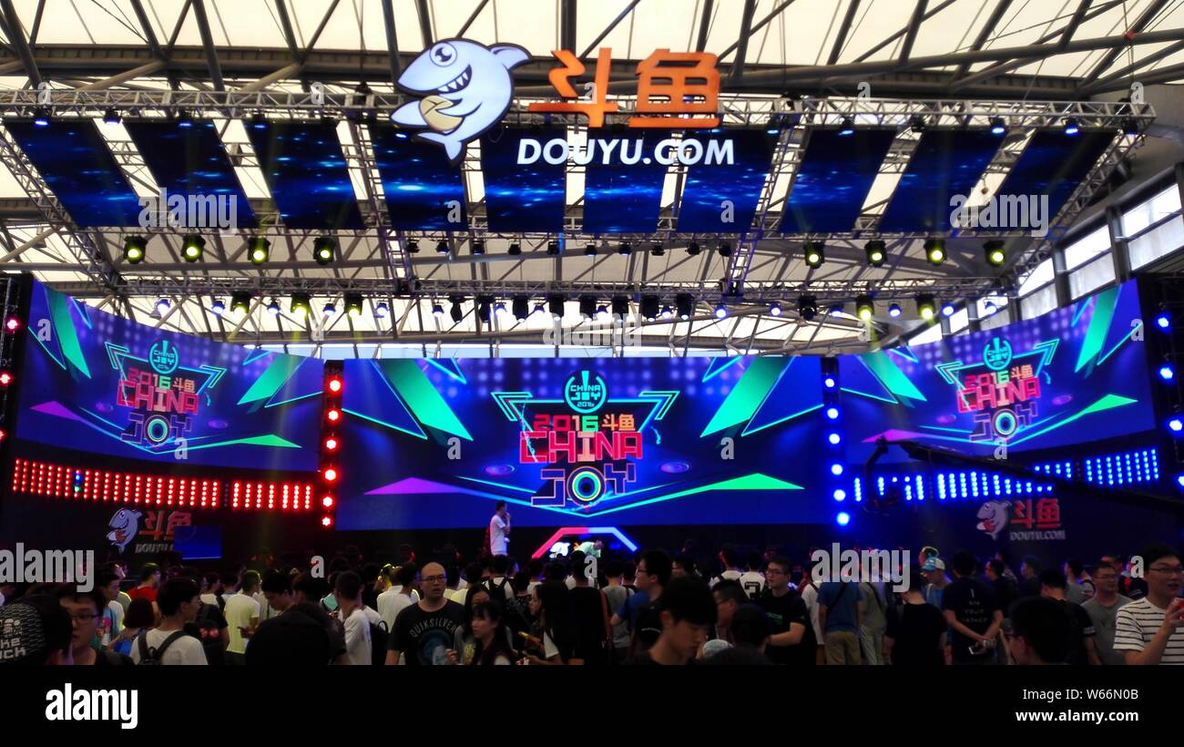FILE--People visit the stand of Chinese game video streaming