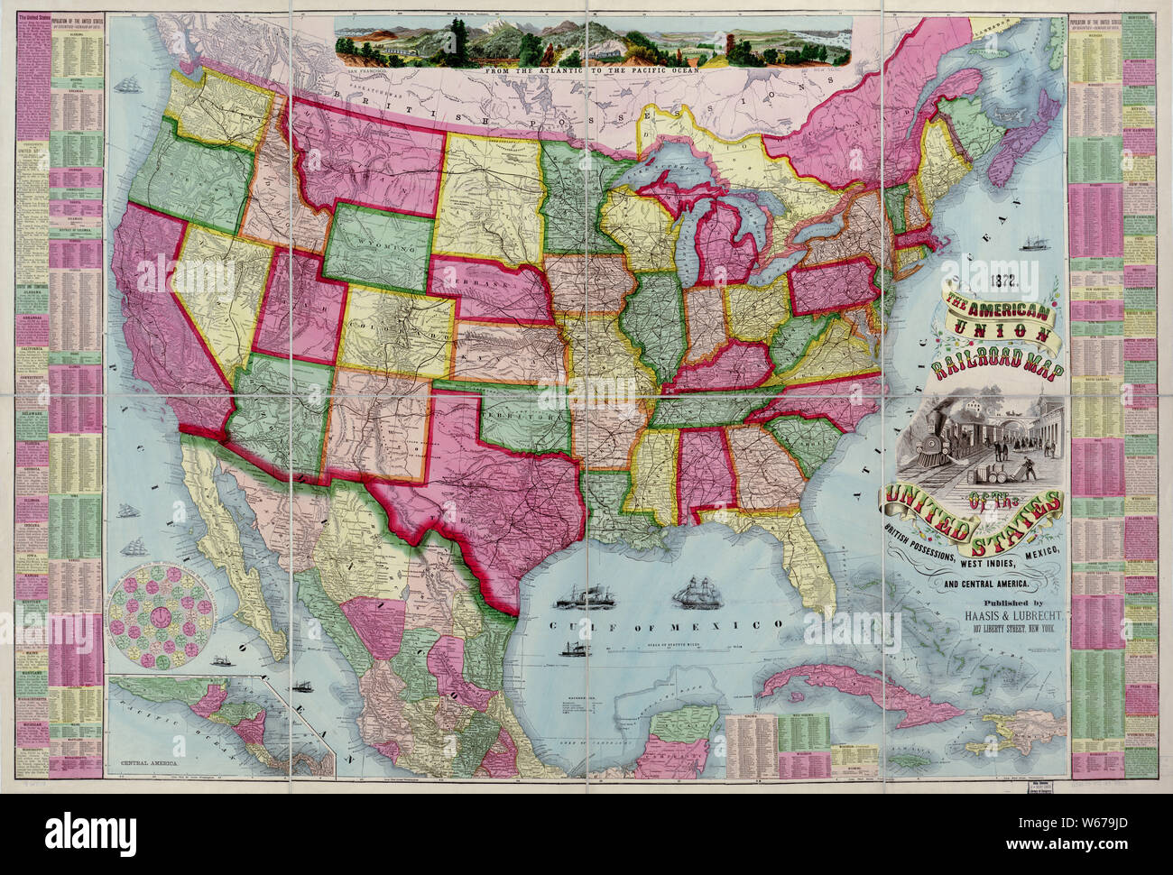 172 Norfolk St On Subway Map.Railroad Map Of The United States Stock Photos Railroad Map Of The