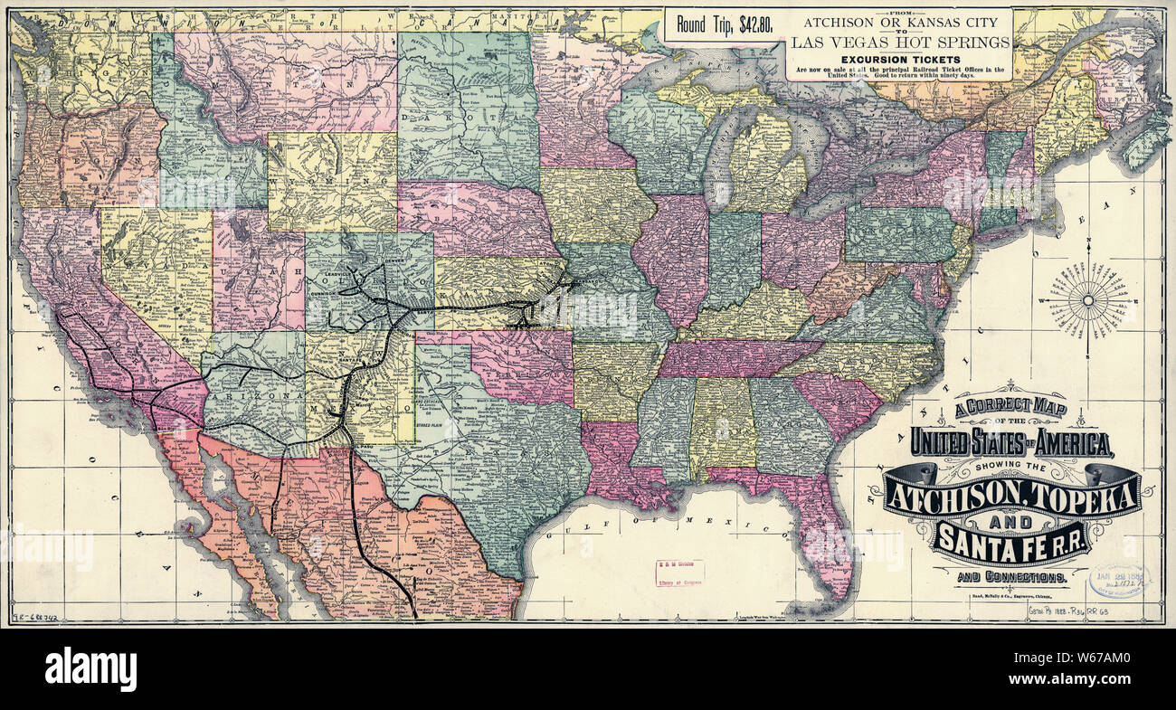0031 Railroad Maps A correct map of the United States of ...