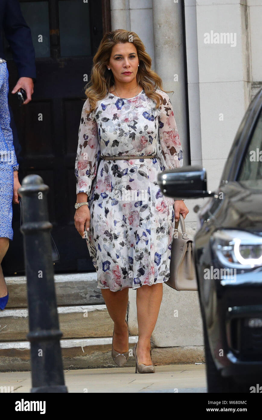 Princess Haya Bint Al Hussein leaves the Royal Courts of