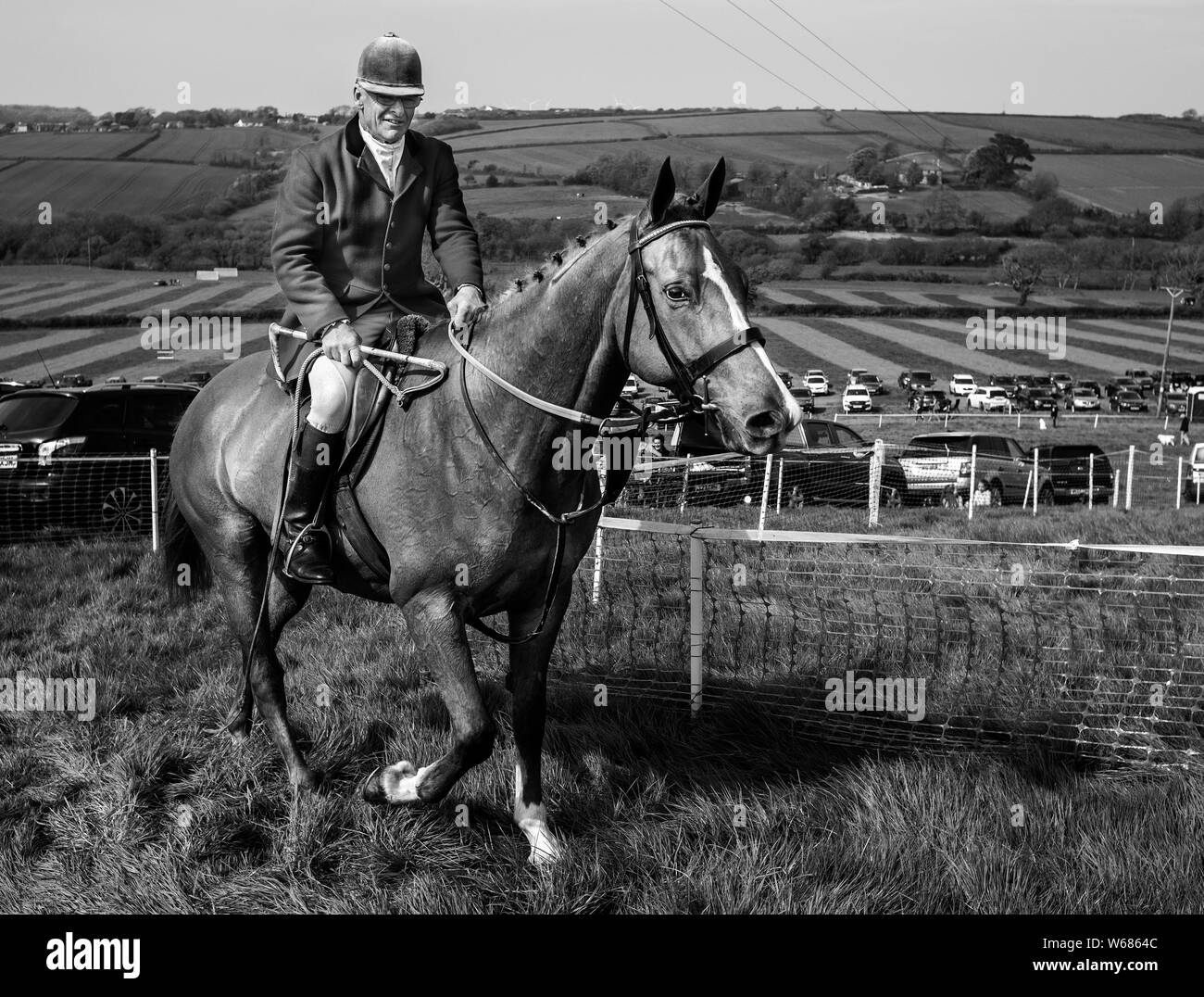 Master of the four burrow hunt point to point horse race 2019 Stock Photo