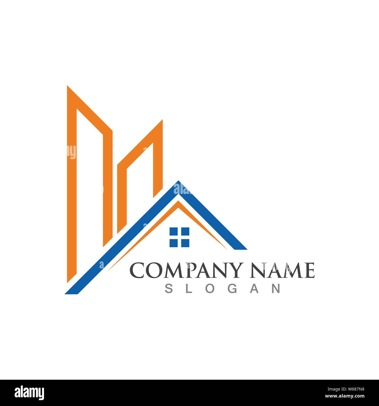 Home Logo And Symbol Property And Construction Logo Design Stock Vector Image Art Alamy