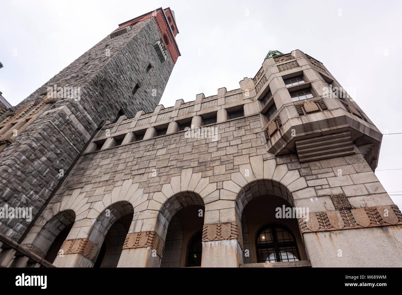 The National Museum of Finland, building reflects Finland's medieval churches and castles, Helsinki, Finland Stock Photo