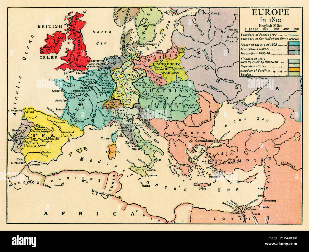 Napoleonic Wars Map High Resolution Stock Photography And Images