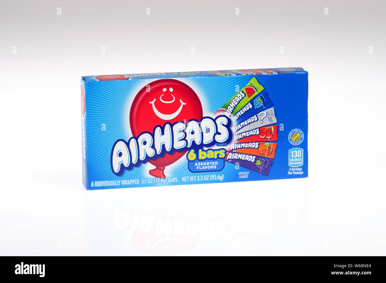 Airheads candy box made by Perfetti Van Melle Stock Photo