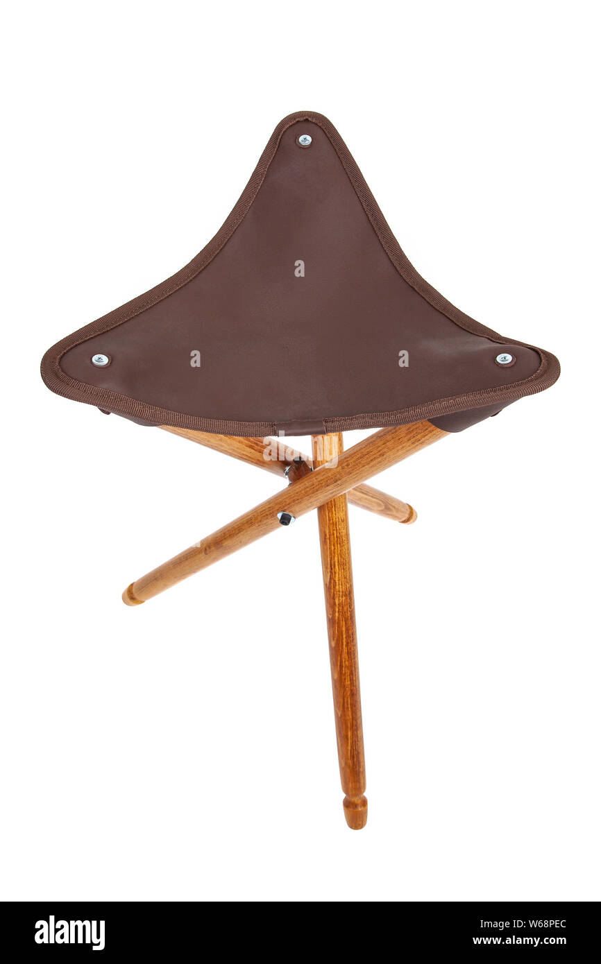 Prime Folding Wooden Hunting Stool Tripod Isolate On White Squirreltailoven Fun Painted Chair Ideas Images Squirreltailovenorg