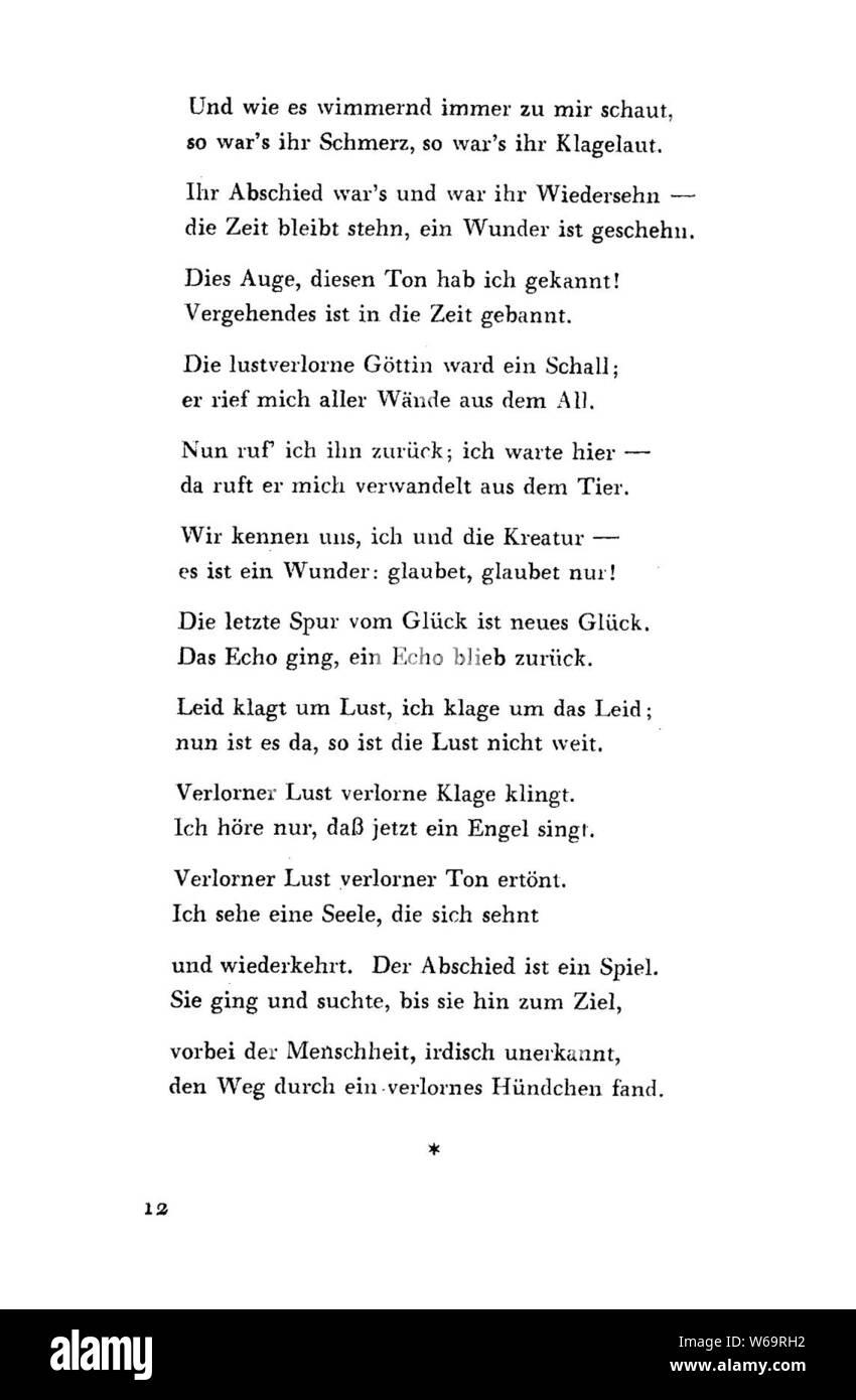De Ausgewählte Gedichte Kraus 12 Stock Photo 262059534