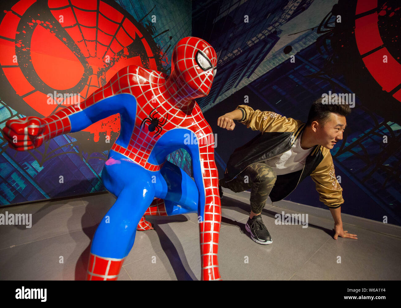Spiderman Poses Stock Photos & Spiderman Poses Stock Images
