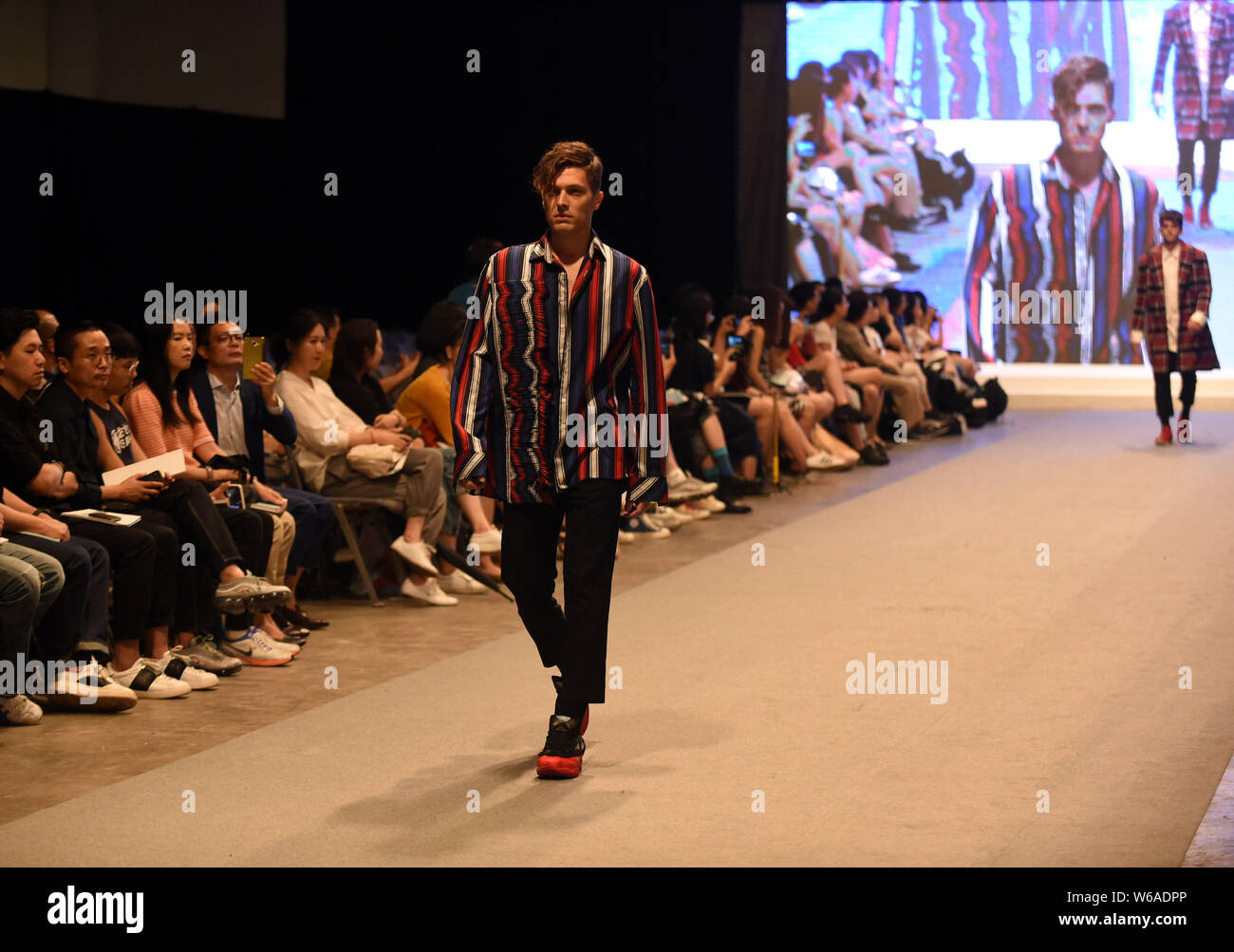 A Model Displays A New Creation By A Graduate During A Fashion Show For Graduation Design Works At The Campus Of Hong Kong Polytechnic University Pol Stock Photo Alamy