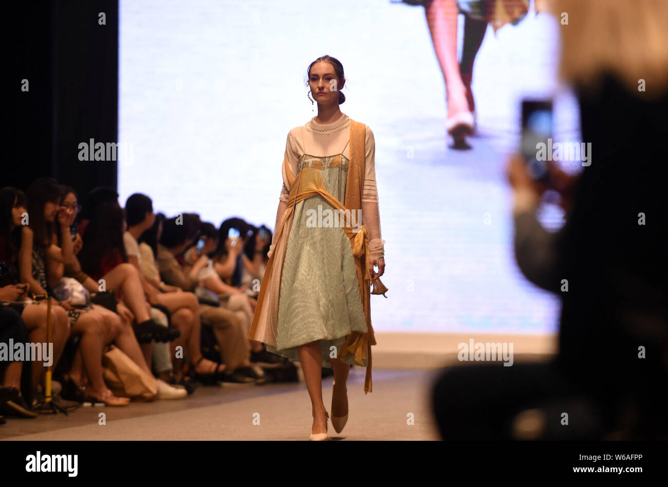 A Model Displays A New Creation By A Graduate During A Fashion Show For Graduation Design Works At The Campus Of Hong Kong Polytechnic University Pol Stock Photo 262075374 Alamy