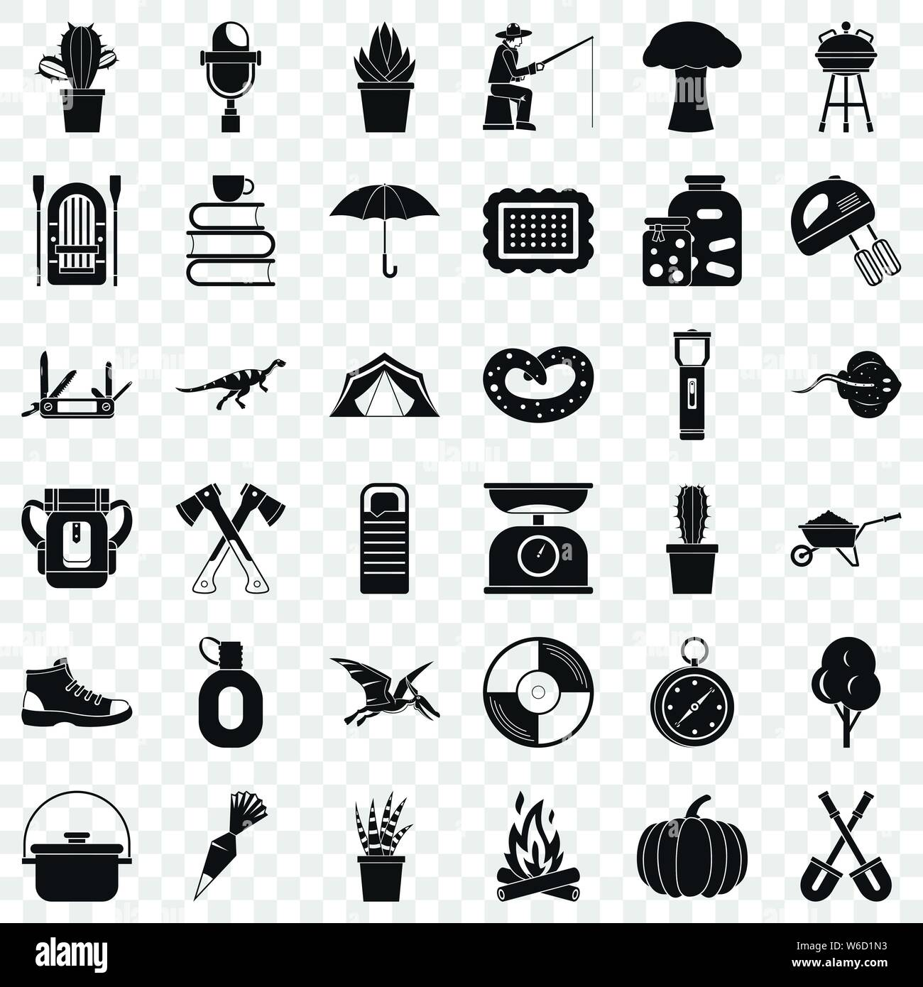 Hobby Icons Set Simple Style Stock Vector Image Art Alamy