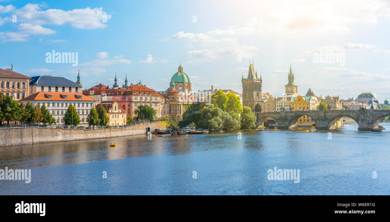 Vltava River Prague Stock Photo