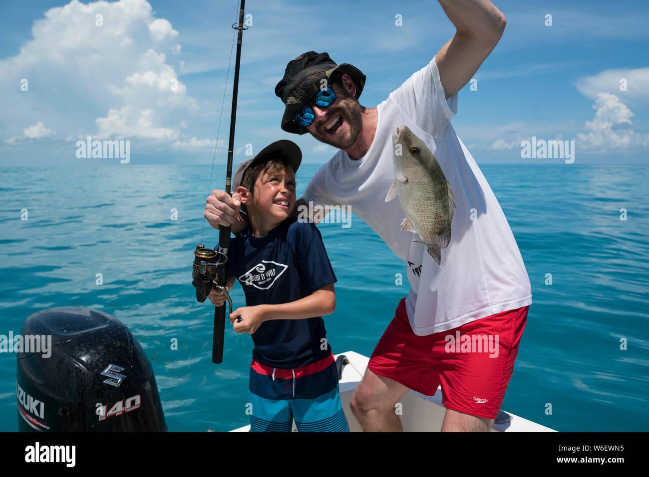 Fishing Florida Keys Stock Photo