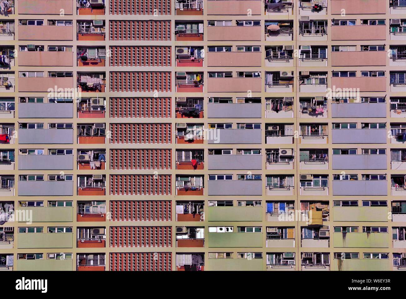 --FILE--View of the houses of public rental housing (PRH) in Hong Kong, China, 26 October 2017. Stock Photo