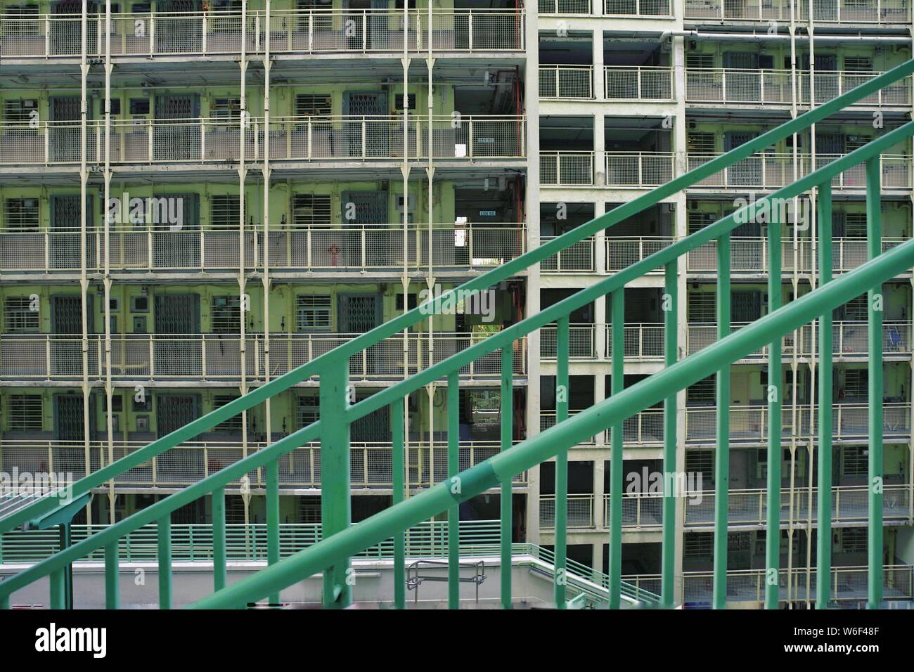 --FILE--View of the houses of public rental housing (PRH) in Hong Kong, China, 24 October 2017. Stock Photo