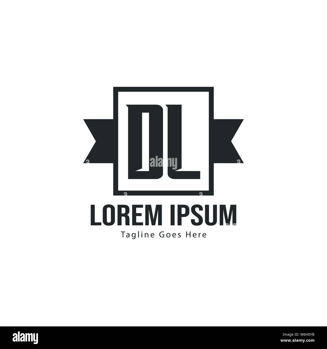 Initial Dl Logo Template With Modern Frame Minimalist Dl Letter Logo Vector Illustration Design Stock Vector Image Art Alamy