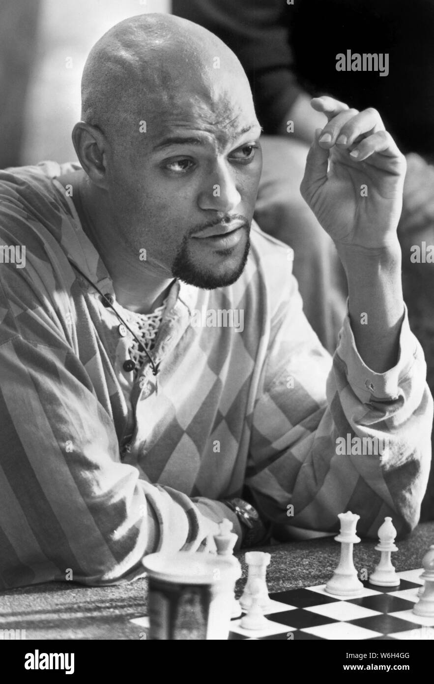 "Laurence Fishburne, on-set of the Film, ""Searching for Bobby Fischer"", Photo by Kerry Hayes for Paramount Pictures, 1993 Stock Photo"