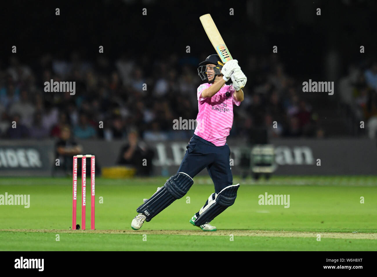 London, UK. 1st Aug, 2019.  during T20 Vitality Blast Fixture between Middesex vs Kent at The Lord Cricket Ground on Thursday, August 01, 2019 in LONDON ENGLAND. Credit: Taka G Wu/Alamy Live News Stock Photo